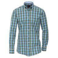 XXL CasaModa Langarmhemd grün-blau-weiß kariert 001