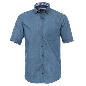 Casa Moda jeansblaues Kurzarmhemd Denim Look