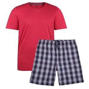 Jockey kurzer Pyjama rot-blau kariert