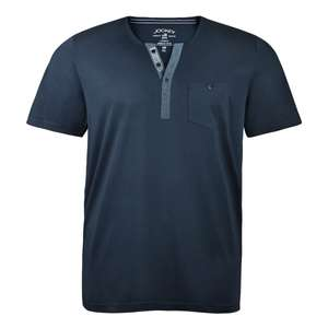 Jockey T-Shirt in navy mit Knopfleiste