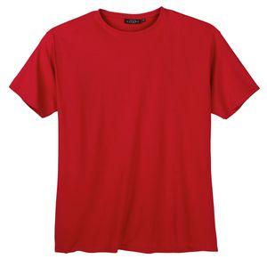 Kitaro Basic T-Shirt rot in Übergröße