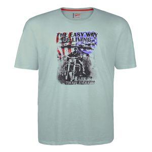 Redfield mintgrünes T-Shirt mit Frontprint