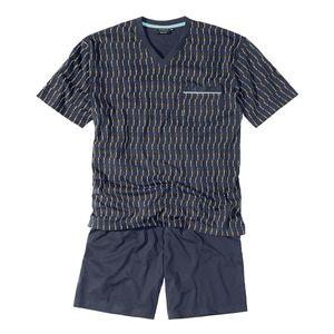Götzburg blauer Pyjama kurz mit V-Neck