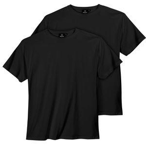 XXL Replika by Allsize Doppelpack T-Shirt schwarz