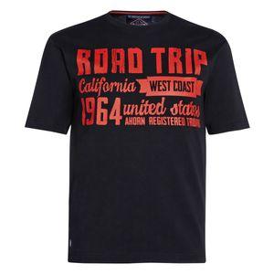 Ahorn schwarzes T-Shirt mit rotem Print Übergröße