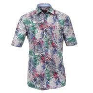CasaModa Kurzarmhemd mit floralem Druck Übergröße 001