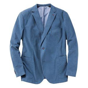 Gebr. Weis leichtes Sakko blau mit Struktur Übergröße