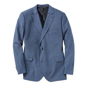 XXL Gebr. Weis Stretch-Sakko blau mit Struktur
