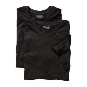 Redfield Doppelpack T-Shirt schwarz Übergröße