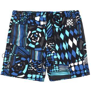 XXL Adamo Bade-Bermuda Fantasiemuster türkis-blau-weiß