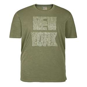 Redfield T-Shirt khaki mit Buchstabendruck New York