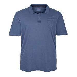Redfield Poloshirt blau im Washed Out Look