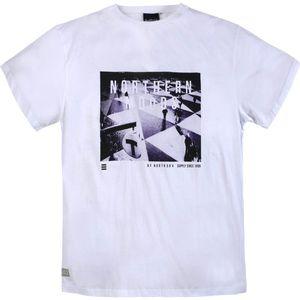 XXL North 56°4 by Allsize T-Shirt weiß mit Fotoprint