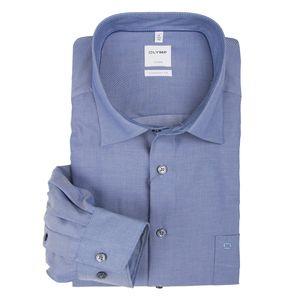 XXL Olymp Langarmhemd bügelfrei blau gestreift