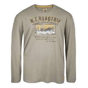 Redfield Langarmshirt mit Flockprint in taupe