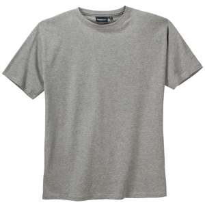 North 56°4 by Allsize Basic T-Shirt grau melange