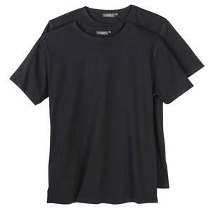 Doppelpack T-Shirt Herren Kitaro Übergröße schwarz