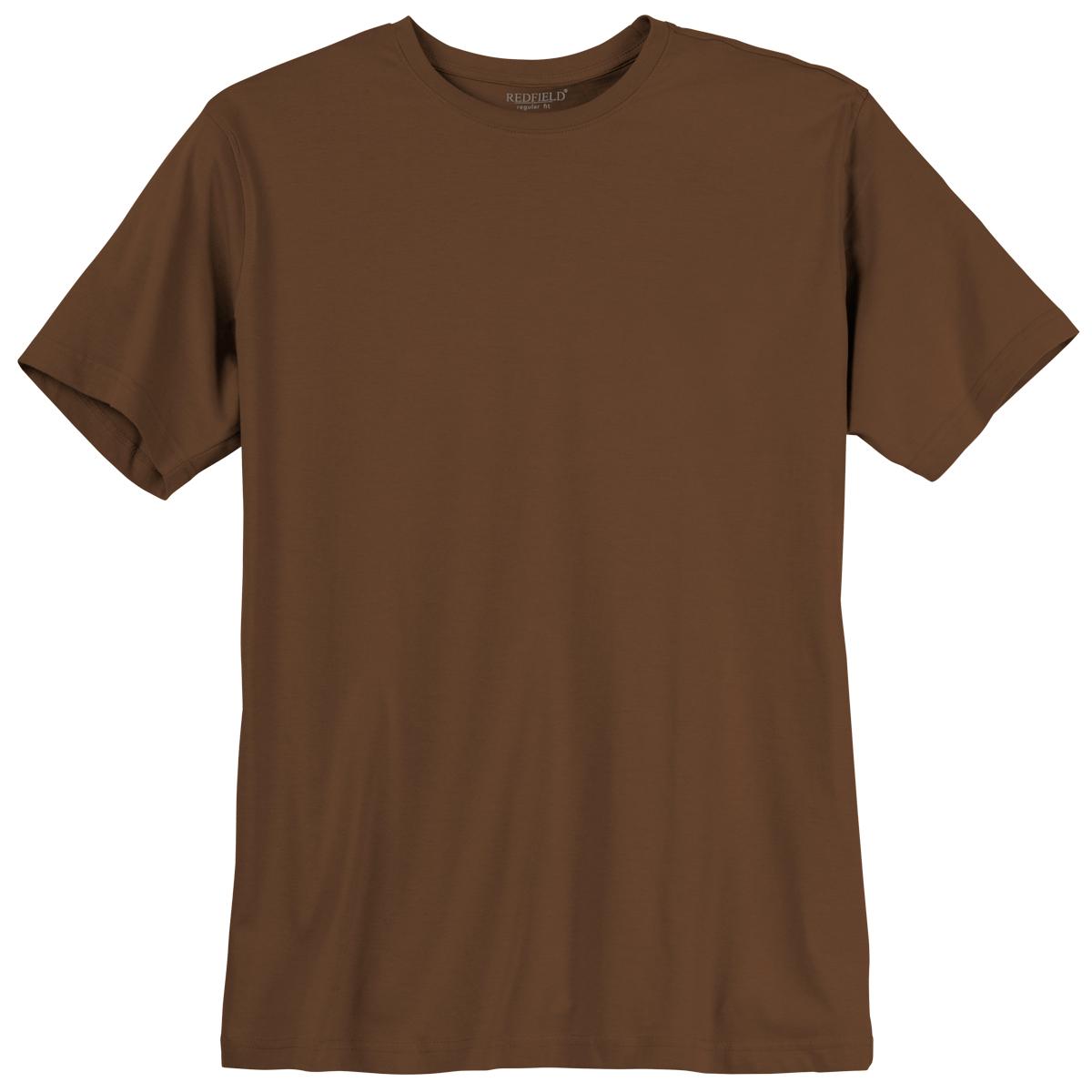 11dca4ec5a3ed Redfield Basic T-Shirt braun Übergröße 001