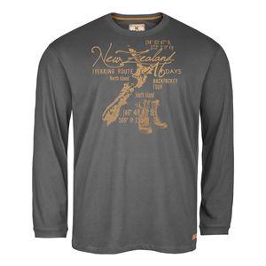 Redfield dunkelgraues Langarmshirt mit Print
