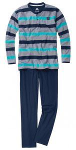 Ceceba Pyjama navy-türkis-grau gestreift