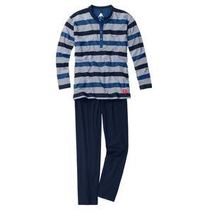 Ceceba navy-mittelblau-weiß gestreifter Pyjama