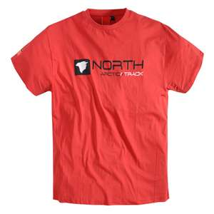 North 56°4 by Allsize bedrucktes T-Shirt rotorange