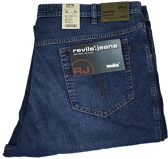 Übergrößen Jeans Revils Stretch Denim stone washed b11b4fce1d