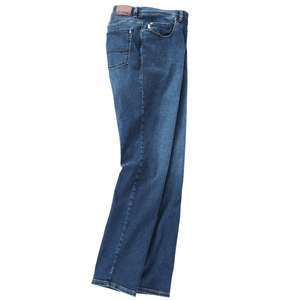 Pionier XXL blaue Stretchjeans Thomas im Used Look