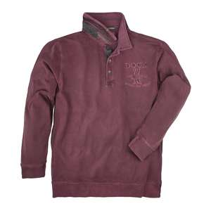 Camel Active Langarm Poloshirt Used Optik in bordeaux