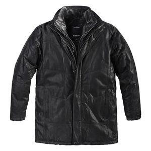 XXL North 56°4 Allsize Lederjacke schwarz gefüttert