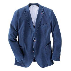 XXL Gebr. Weis modisches Sakko jeansblau Stretch