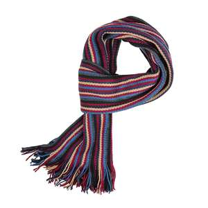 Brigg mehrfarbig gestreifter Schal mit Fransen