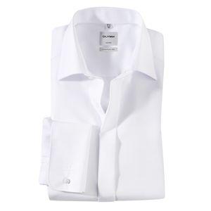 XXL Olymp elegantes weißes Langarmhemd bügelfrei