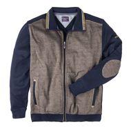 XXL Casa Moda Sweatjacke dunkelblau Kontrasteinsatz 001