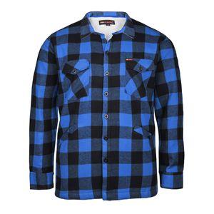 Kamro gefüttertes Holzfällerhemd blau-schwarz kariert