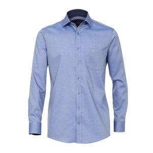 XXL CasaModa Langarmhemd blau mit feinem Druck