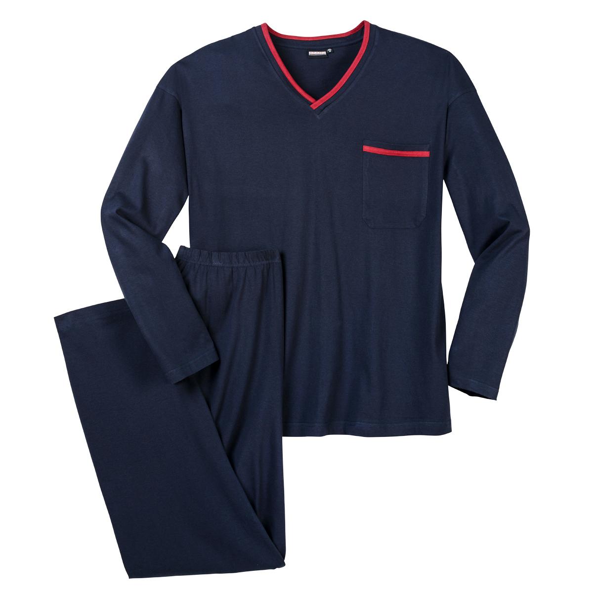 Adamo Übergrößen Pyjama dunkelblau 2XL 3XL 4XL 5XL 6XL 7XL 8XL 9XL 10XL NEU