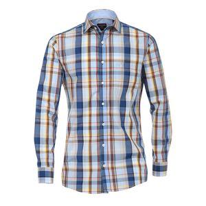 XXL CasaModa Langarmhemd blau-braun-gelb kariert