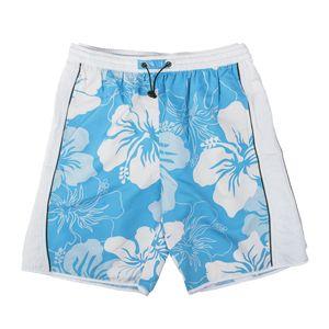 Elemar XXL Badeshort hellblau-weiß Floralmuster
