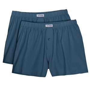Boxershorts Herren 2er Pack blau Ceceba Übergröße