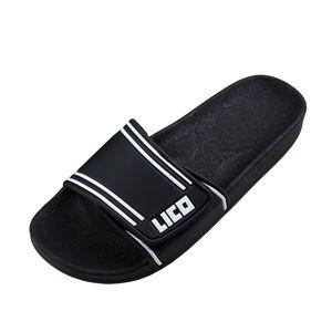 XXL Badepantolette schwarz-weiß von Lico