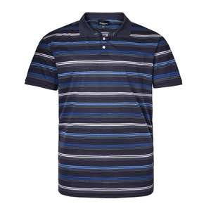 XXL North 56°4 by Allsize Polo navy Querstreifen