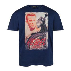 Replika by Allsize T-Shirt blau mit Print Übergröße