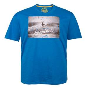 XXL Redfield T-Shirt ocean blue mit Frontdruck