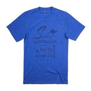 CasaModa bedrucktes T-Shirt blau Übergröße