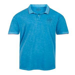 XXL Redfield Poloshirt ozeanblau Vintage Look
