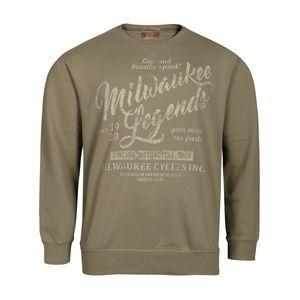 Redfield Übergrößen Vintage Print Sweatshirt hellkhaki