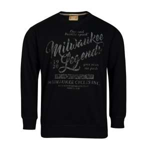 Redfield Übergrößen Sweatshirt Vintage Druck schwarz