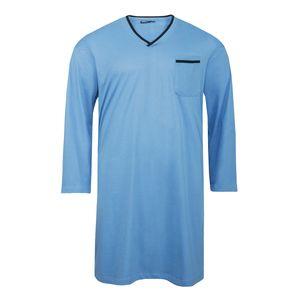 Adamo Nachthemd mit langem Arm in hellblau Übergröße