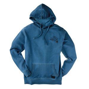 XXL Used Look Kapuzen-Sweatshirt aquablau von Kitaro